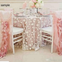 Blush Chair Sashes Uk Steel Video Shop White Ruffled Sash Free 2015 Pink Chiffon Ruffles Romantic Beautiful Sample
