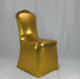 used spandex chair covers bed cover online shopping 50pcs bronzing elastic for wedding hotel