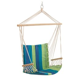 indoor hanging chairs canada white dining room target swing best selling canvas striped hammocks porch camping rope patio seat with armrests and outdoor chair new arrival 55xl a