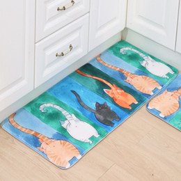 cute kitchen rugs decorate online shopping for sale 2018 welcome floor mats animal four cats printed bathroom carpet house doormats living room anti slip