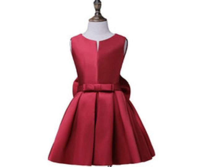 Free Hot Photo Girls Online Shopping Hot Sale Flower Girl Communion Dress A Line Satin