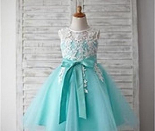Hot Sale Flower Girl Dresses For Wedding Little Girls Kids Child Dress With Appliques V Back Party Pageant Communion Dress Hot Photo Girls Short Deals