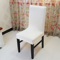 Dining Chair Covers Heywood Wakefield And Ottoman Room Slipcover Nz Buy New Arrival White Spandex Strech