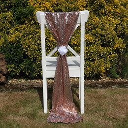 sequin chair covers uk eddie bauer lawn chairs shop champagne free luxury rose gold sashes custom made wedding party decor