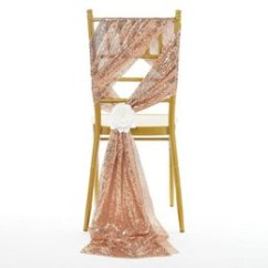 Sequin Chair Covers Uk Swivel Definition Shop Make Free Delivery To Luxury Rose Gold Sashes Custom Made Wedding Party Decor