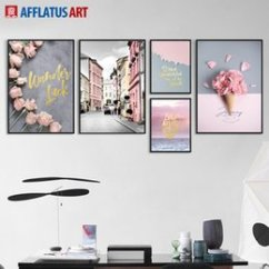 Wall Prints For Living Room Australia Staging Furniture New Featured Nordic Poster Flower Street Landscape Art Canvas Painting