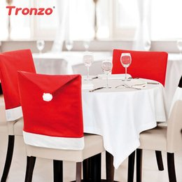 christmas chair back covers uk kneeling office with support shop decorations for backs tronzo 2018 new red hat cover