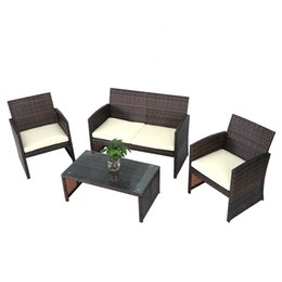 rattan table and chairs wingback recliner chair sets online for sale fully equipped cane double sofa single sofas tea seat cushions furniture set