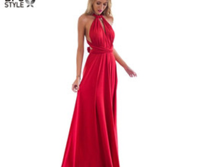 Sexy Women Multiway Wrap Convertible Boho Maxi Club Red Dress Bandage Long Dress Party Bridesmaids Infinity Robe Longue Femme D