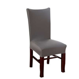stretch dining chair covers uk spa massage shop seat free mecerock spandex cover elastic slipcovers solid color