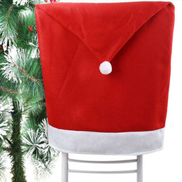 christmas chair covers the range accent living room chairs with arms shop santa hat uk 4pcs cover clause red