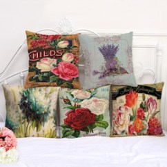 Decorative Chair Covers For Sale Stool Drawing Lavender Online Shopping Pillow Cushion Case Vintage Flower Pillowcase 17 5 Inch Cotton Linen Seat Throw Cover P1078