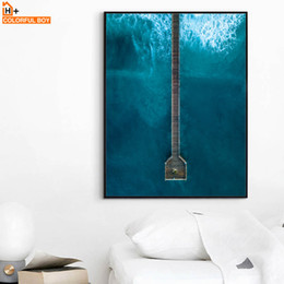 wall prints for living room australia rattan chairs new featured colorfulboy art print sea bridge nordic landscape posters