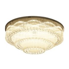 Fluorescent Light Fixtures Living Room Pictures Of Country Rooms Modern Online Shopping Luxurious Crystal Chandelier Round High End K9 Ceiling For Dining