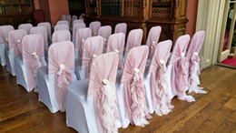 ruffle chair sashes cover rentals newmarket shop ruffled uk free delivery to pink and white not including the flower romantic beautiful new
