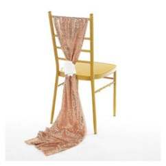 Sequin Chair Covers Uk For Bride And Groom Shop Custom Made Free Luxury Rose Gold Sashes Table Runner