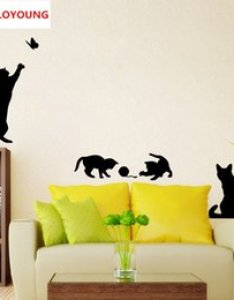 Cartoon staircase cats wall sticke vinyl home decor living room kids decoration stickers diy autocollant mural also chart paper online shopping rh dhgate