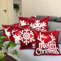 Decorative Chair Covers For Sale Cane Repair Glitter Online Shopping Christmas Mermaid Sequins Cushion Cover Throw Pillow Sofa Home Car Case