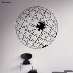 Living Room Ornaments Sears Curtains For Discount Modern Sphere Ball Puzzles Wall Vinyl Decal Mosaic Ornament Sticker Home