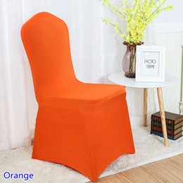 spandex chair covers wholesale canada best stadium chairs for bleachers orange lycra selling cover colour flat front stretch banquet wedding decoration on sale