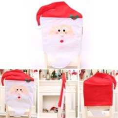 Santa Chair Covers Australia Colorful Desk Chairs Claus New Featured 4pcs Set Christmas Cap Xmas Mr Mrs Red Hat Back Cover For Dinner Table Party Decor