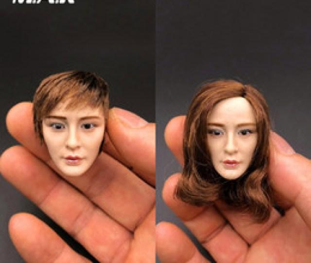 Asians Beauties Australia 1 6 Scale Female Head Sculpt Asian Beauty Head Carving Yang Mi