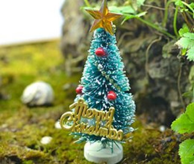Diy Artificial Christmas Tree Canada Mini Artificial Christmas Tree Party Ornaments Figurines Miniatures Diy Home