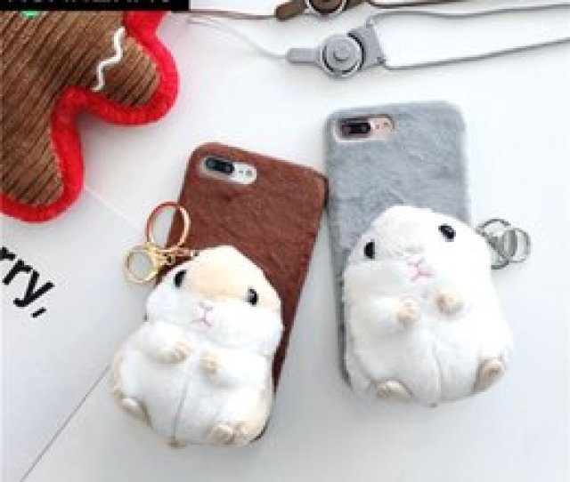 For Iphone Xr Soft Furry Doll Back Case For Iphone 6s 7 8 Plus X Cute Cartoon Toy Hamster Fur Phone Case  Plus Cover Xs Max