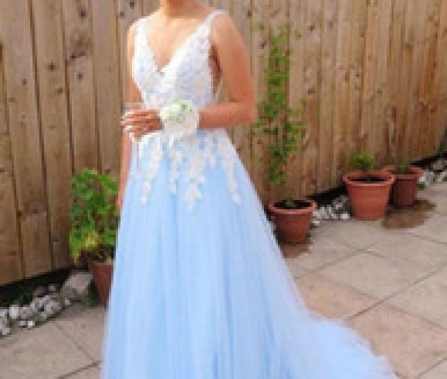 Discount Sexy Teens Models A Line Long Tulle Prom Dresses For Teens V Neckline Lace