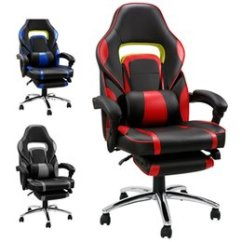 Recliner Office Chair Nz Wedding Covers Hire West Sussex Chairs Buy New Online From Best Sellers Arrival Black Adjustable 360 Degree Reclining Computer Gaming With Padded Footrest