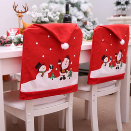 santa chair covers australia folding beach chairs target snowman new featured claus cap cover christmas dinner table party red