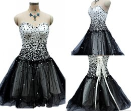 High Quality A Line Free Shipping New Black Prom Gowns Tube Top Halter Strap Short Tulle Party Cocktail Dresses Dh288