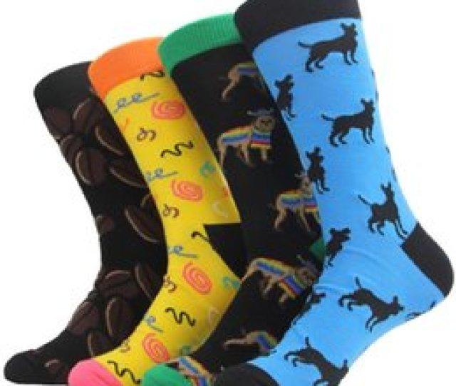Dress Sox Australia Myored Brand New Mens Socks Colorful Harajuku Cartoon Animal Long Socks Middle