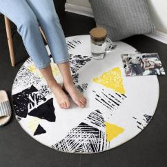 Bedroom Chair With Blanket Swivel Explosion Round Carpet Home Floor Mat Computer Living Room Leisure Rug