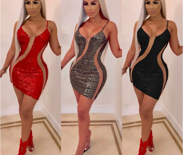 Glitter Sequin Dress  New Bodycon Birthday Dresses Women Sexy
