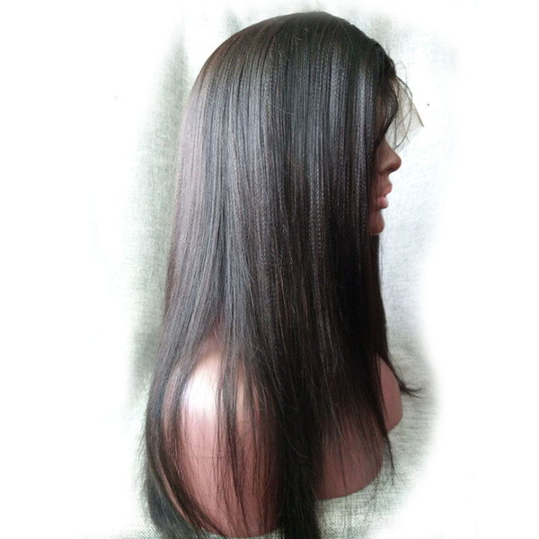 best selling Yaki straight Full lace wig &Front Lace wig Remy Brazilian Virign human hair Free shipping DHL