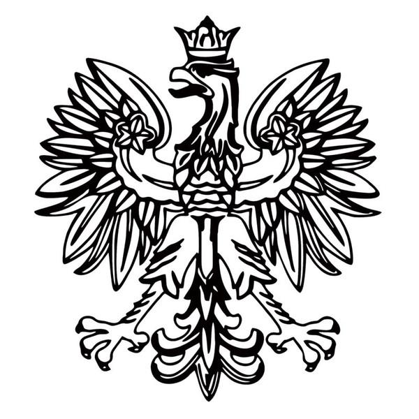 2019 Polish Eagle Vinyl Decal Poland Emblem Funny Car