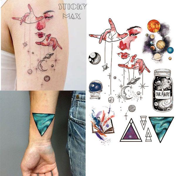 Tatuaje Temporal Del Universo Exterior W15 Con Espacio Geométrico
