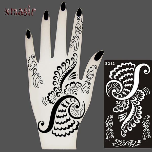 Plantillas De Tatuaje De Henna Con Aerógrafo Con Brillo Temporal
