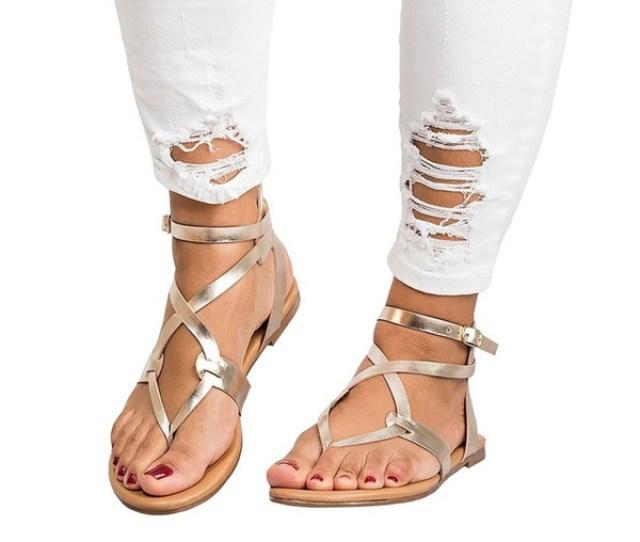 Big Black C Coupons New Knitting Filp Flops Rome Flat Sandals Big Size Women Sandals