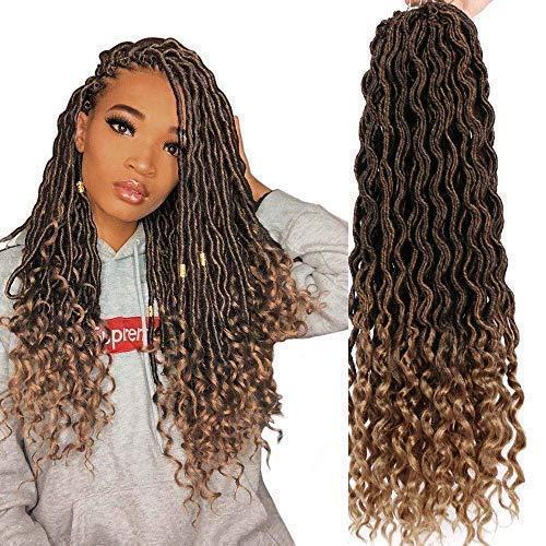 Dorsanee Goddess Faux Locs Crochet Hair Braids Wavy Synthetic