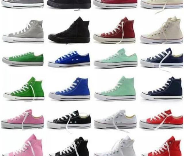 2019 New Big Size45 Low High Top Casual Shoes Style Sports Stars Chuck Classic Canvas Shoe Sneakers Conve Men Women Canvas Shoes Retail