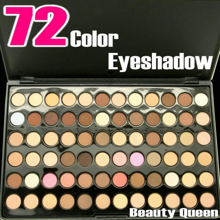 New Professional 72 Warm Color Neutral S Eyeshadow Eye Shadow Palette Makeup Cosmetics Kit Set Online With 18 58 Piece