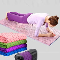 towel over yoga mat