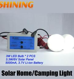 online cheap wholesale dc home traveling camping outdoor indoor solar panel powered 6w led light bulb lamp home lighting system kit by yera dhgate com [ 1000 x 1000 Pixel ]