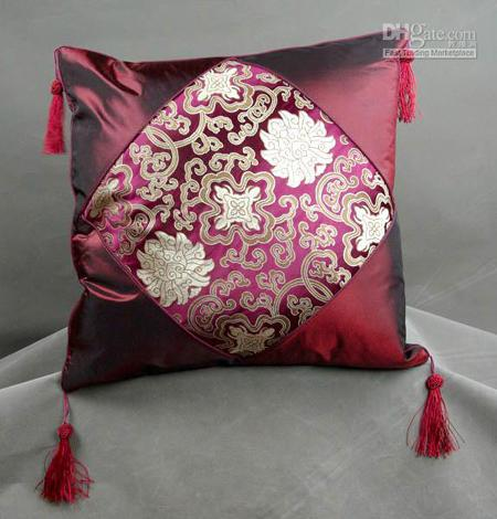 average size of a sofa futura leather reclining reviews 18 inch silk pillow cases tassel chinese style patchwork ...