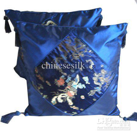 Patchwork Silk Pillow Case Tassel Fashion Chinese Style Cushion Covers For Chairs Couch Car Euro