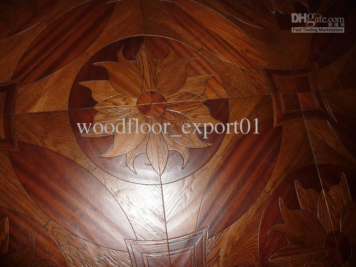 2018 Wood Flooring Parquet Wood Flooring Medallion Lotus Oak Merbau Wood Profiled Wood Flooring