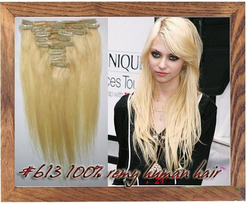 18 26 inch clip in 100 remy human hair extensions 613 bleach blonde 105g hair extensions for
