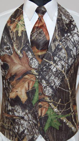 2017 Realtree Camo Groom Vests Farm Wedding Camouflage